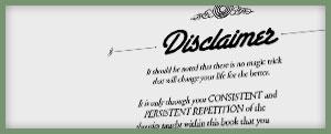 self-help disclaimer